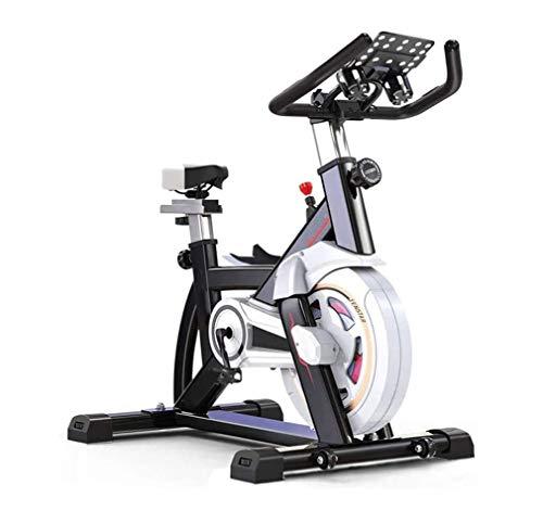 ZOUSHUAIDEDIAN Bicicleta de Ejercicios Ciclismo Indoor Bike Cinturón Impulsado resistencia magnética bicicleta estacionaria del volante cubierta trasera de bicicletas con el monitor y el iPad tomador,