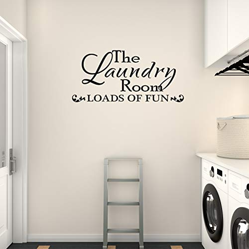 Wall Decal Quote The Laundry Room Loads Of Fun Vinyl Sticker Home Decor