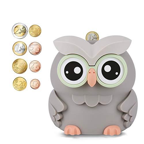 AMAGO Owl Digitale Spardose,Süßes Sparschwein für Jungen,Mädchen und Erwachsene, Das Sparschwein mit Theke Kinder an Weihnachten und Geburtstagen.