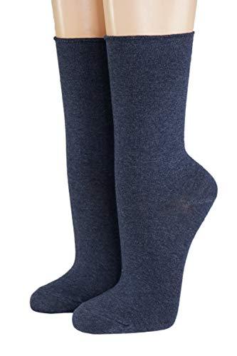 CRÖNERT Herren Longsocks Socken einfarbig jeans meliert(43-46)