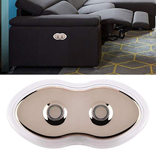 Cafopgrill Sofá eléctrico de Control Manual, Controlador de Interruptor de Control Manual de 2 manijas con retroiluminación led para sillón de Masaje eléctrico para sofá (5 Pines)