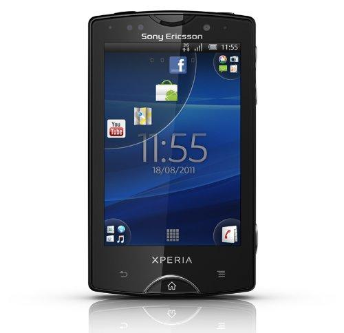 Sony Ericsson Xperia mini pro Smartphone (7,6 cm (3 Zoll) Bildschirm, QWERTZ-Tastatur, Touchscreen, 5 MP Kamera, Android 2.3 OS) schwarz