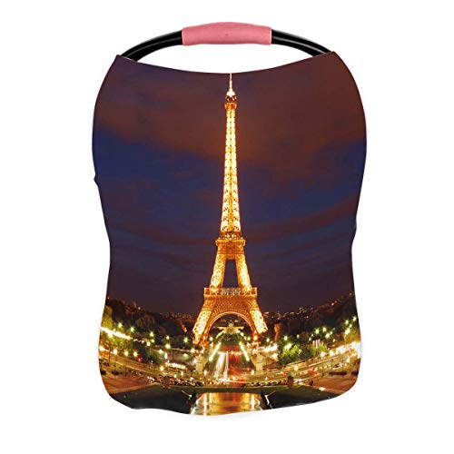 Sale!! PKQWTM Eiffel Tower at Night Paris Tallest Structure Nursing Cover Baby Breastfeeding Infant ...