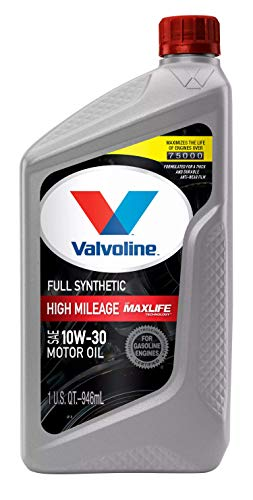 Valvoline - VV180- Full Synthetic High Mileage with MaxLife Technology SAE 10W-30 Motor Oil 1 QT