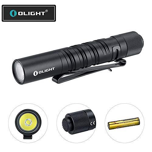 OLIGHT I3T EOS Taschenlampe 180 Lumen 60 Meter Reichweite, Mini LED Taschenlampe für schlüsselanhänger Schwarz