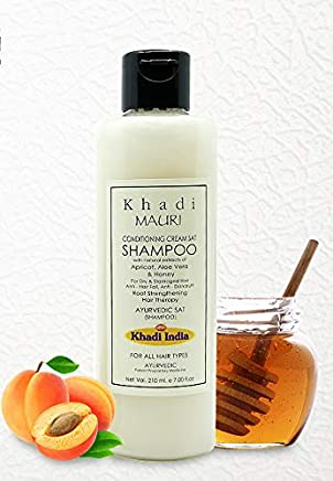 KHADI Conditioning Cream Shampoo - 210 ml - Dry & Damaged Hair Treatment - Enriched with Apricot Oil, Aloe Vera & Honey
