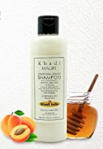 KHADI Conditioning Cream Shampoo - 210 ml - Dry & Damaged Hair Treatment - Enriched with Apricot Oil, Aloe Vera & Honey