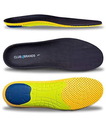 CLUB4BRANDS Plantillas Comfort | Plantillas ortopédicas para hombres y mujeres | para aliviar el dolor de los pies planos y la fascitis plantar | 40-46 EUR / 6.5-11 UK