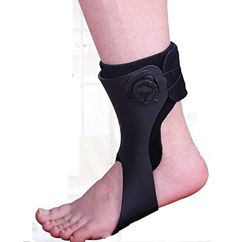 MOXIN Foot Up Drop Foot Brace, Orthosis Ankle Brace Support Adjustable Straps Foot Drop Brace Stability Support Pads for Shoes Walking, for Women and Men,Left,XL