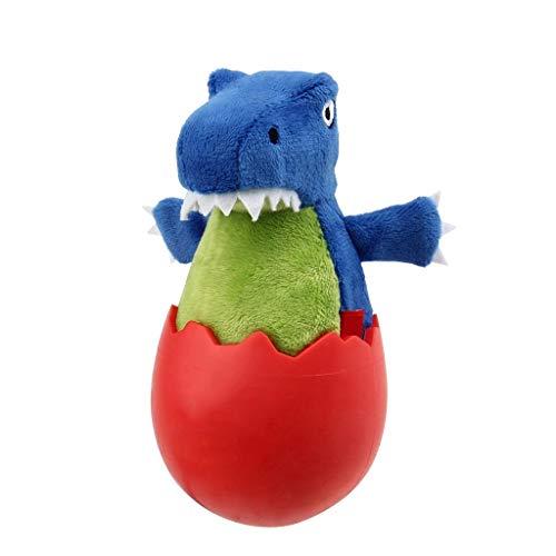 NYKK Juguete para Mascotas Juguetes Animales Perro de Juguete cáscara de Huevo de la simulación del Caucho del Juguete de la Felpa Bite Resistente Molar Pet Juguete del Sonido (Color : Blue)
