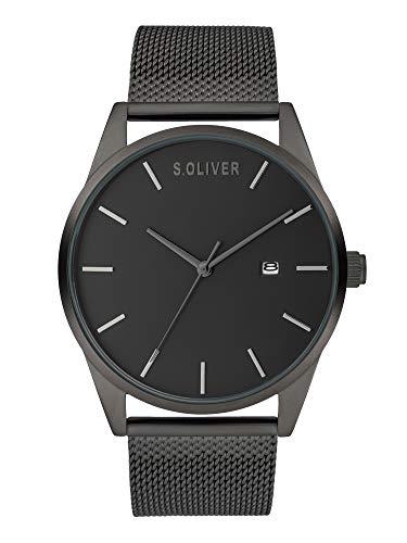 s.Oliver Herren Analog Quarz Uhr mit Metall Armband SO-3991-MQ