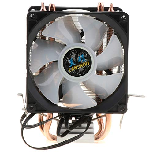 B Blesiya Ventilador de Enfriamiento de Alto Rendimiento Ventilador de Enfriamiento Desmontable de CPU de 3 Pines - Luz de Colores