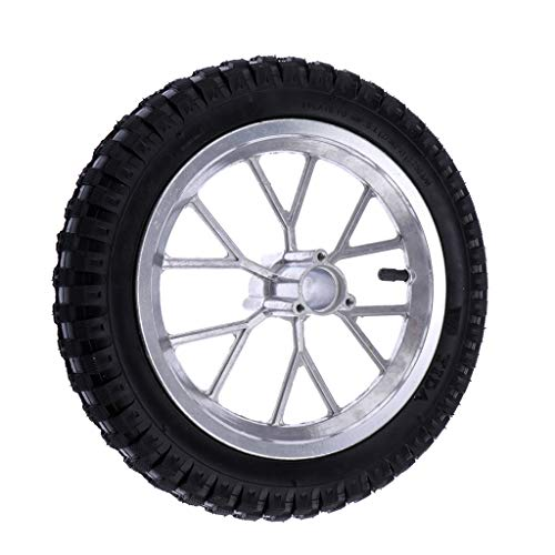 B Blesiya 12,5-2,75 Rueda Trasera + Neumático para Bicicleta de Tierra Pit Mini Rocket de 49 CC