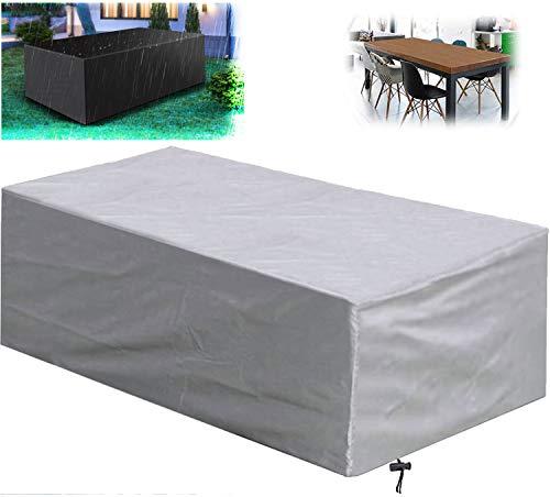 WYYL - Cubiertas para muebles de jardín, impermeable, resistente tela Oxford 420D al aire libre, rectangulares de patio, anti-UV, resistente al viento, cubiertas de mesa de jardín