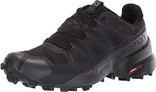 Salomon Men's Speedcross 5 GTX Trail Running, Black/Black/Phantom, 10
