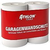ATHLON TOOLS 2 Protezioni delle pareti del Garage FlexProtect, Lunghe 2 m ciascuna, Protezione Estremamente Spessa per Il Bordo della portiera di autovetture, autoadesiva, Idrorepellente