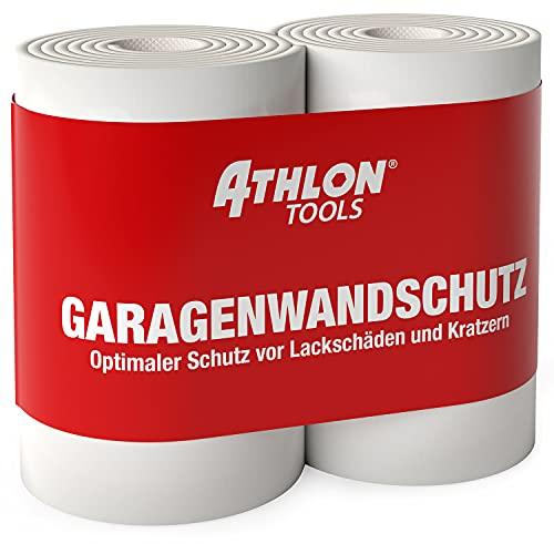 ATHLON TOOLS 2X FlexProtect Garagen-Wandschutz - je 2 m lang - Extra Dicker Auto-Türkantenschutz, Selbstklebend, Wasserabweisend