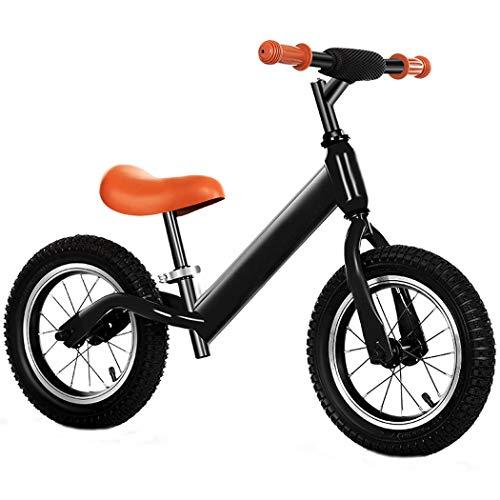 PPQQBB Bicicleta de Balance de 12 Pulgadas Sin Pedal Bicicleta de Entrenamiento de Bicicleta de Balance de Balance Adecuado para niños de 1 a 7 (Negro) Black