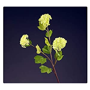 ZJJZH Artificial Decorative Flowers Home Accessories Simulation Flower Ornaments Three snowballs Inserted Flower Bouquets Small vase Living Room Soft Film Shooting Props 72cm Artificial Flowers.