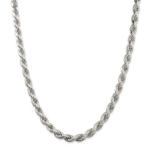 925 Sterling Silver 7mm Link Rope Chain Necklace 28 Inch Pendant Charm Fine Jewellery For Women Mothers Day Gifts For Her