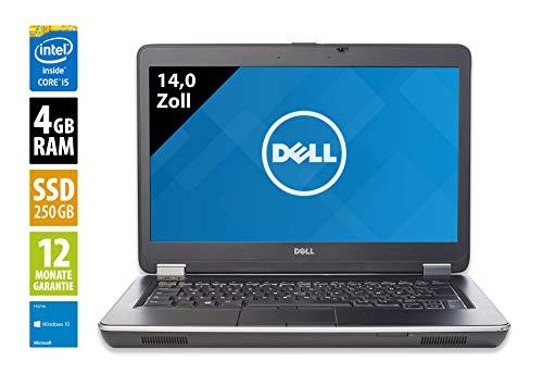 Dell Latitude E6440 | Notebook | Laptop | 14,0 Zoll (1366x768) | Intel Core i5-4300M @ 2,6 GHz | 4GB DDR3 RAM | 250GB SSD | DVD-Brenner | Windows 10 Home (Generalüberholt)