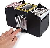 Tophacker Poker 4-Deck Card Shuffler Elettrico, Elettrico Poker Card Dispenser Automatico Shuffler Shuffler per Home Party Club Poker Giochi Casino Rivenditori