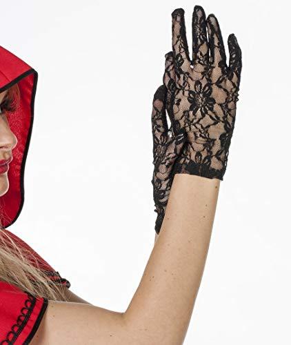 narrenkiste W52010-00 schwarz Damen Spitzen Handschuhe