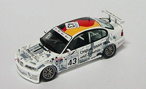 Spark Model S0402 BMW 320 I D.Muller ETCC 2002 1:43 MODELLINO Die Cast Model Compatibile con BMW