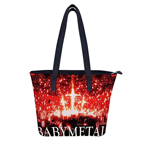 Babymetal Women Adjustable Designer Shoulder Handbags Ladies Laptop Leather Tote Bags