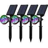 4pezzi 7LED solare luci solari, Outdoor Lampada Da Parete, 7luce LED luminoso da gia...