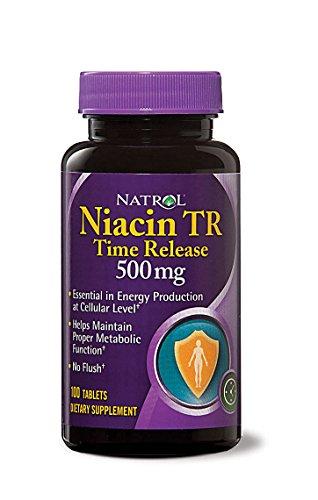 Niacin 500mg Time Release Natrol 100 Caps
