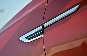 HIGH FLYING for VW Volkswagen Tiguan 2018 2019 2020 Car Accessories Emblem Badge Front Side Fender Sticker Black ABS 4pcs A Type