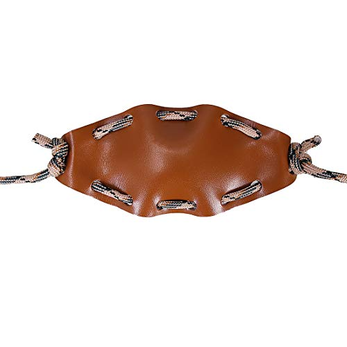 EASYANT Handgefertigter Shepherd Sling Desert Camo Leder geschröpfte Rock Tasche