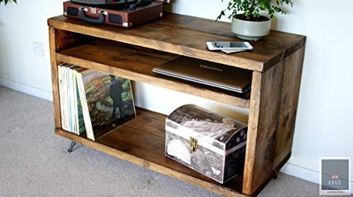 KRUD-37 - Supporto per giradischi, in vinile, per mobili da impalcature, stile rustico, per TV
