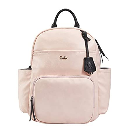 Vegan Leather Diaper Bag Backpack