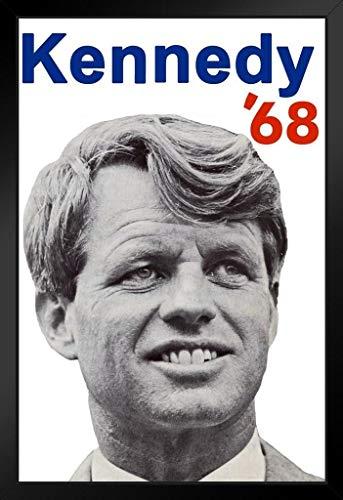 Bobby Kennedy for President 1968 RFK Art Print Stand or Hang Wood Frame Display Poster Print 9x13