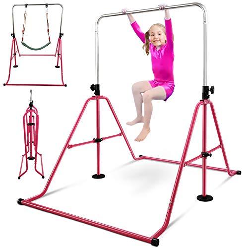 RAVS 鉄棒 ブランコ室内 子ども 子供遊び 折りたたみ 【耐荷重80kg 2021改良型】室内遊具 屋外 高さ9段階調節可能