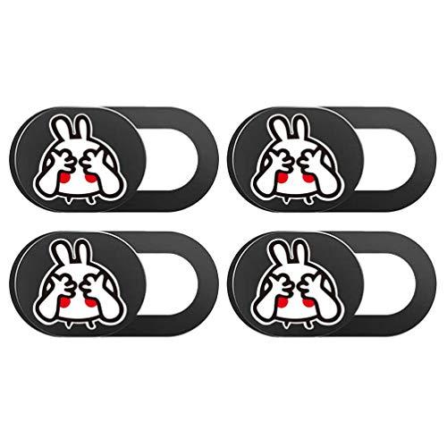 SOLUSTRE 4 Piezas de Dibujos Animados Conejo Webcam Slider Cámara Cubierta Slider Ordenador Webcam Cubierta