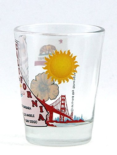 California The Golden State All-American Collection Shot Glass