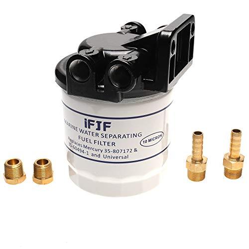 iFJF Marine Fuel Water Separator Kit 10 Micron 18-7983-1 Filters for Replacing Mercury-35-807172, 35-60494-1,1-18-7944,1-18-7853-1 802893Q01 Marine 35-809097 S3213 S3214 B32013 18-7932-1 18-7928-1