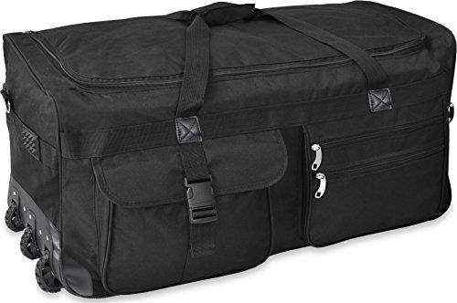 Gear Up Extra großer Trolley - Reisekoffer Reisetasche 80 100 120 oder 150 Liter wählbar Farbe Schwarz/150 Liter