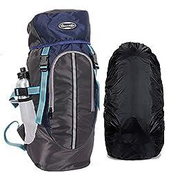POLESTAR Hike Navy 44 Ltr Rucksack With Rain Cover For Trekking Hiking Travel Backpack,JAE
