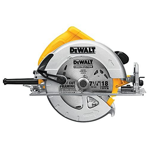 DEWALT 7-1/4-Inch Circular Saw, Lightweight,...