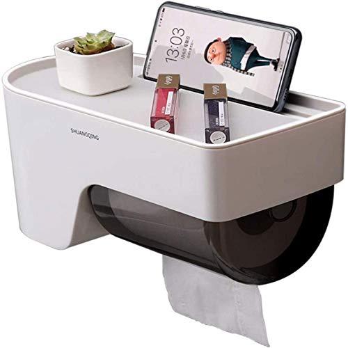 ZCM Portarrollos de papel higiénico de pared, no perforado, autoadhesivo, para baño, cocina, balcón