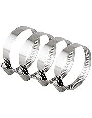 Hon&Guan ホースバンド ステンレス鋼 調整可能 ホースクランプ 汎用ホースバンド 4個入り(Φ65~89mm)