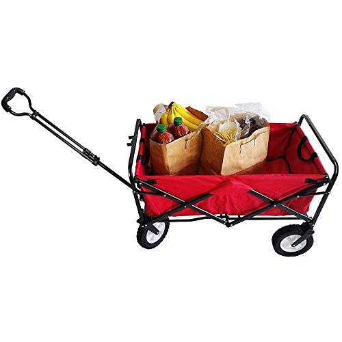 unknown folding wagons Red Heavy Duty Folding Utility Wagon Metal