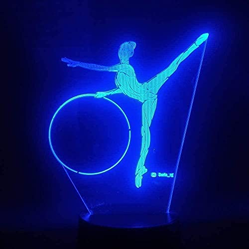 3D illusion night light children mood light 7 color remote control and touch button holiday gift light - Rhythmic Gymnastics Remote Control Acrylic