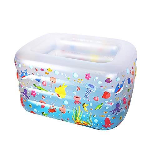 Qi Peng Inflable Piscina-bebé Piscina Hogar Inflable Plegable Aislamiento Familia Piscina Niños Engrosamiento Infantil Cubo de natación (Color : Blanco)