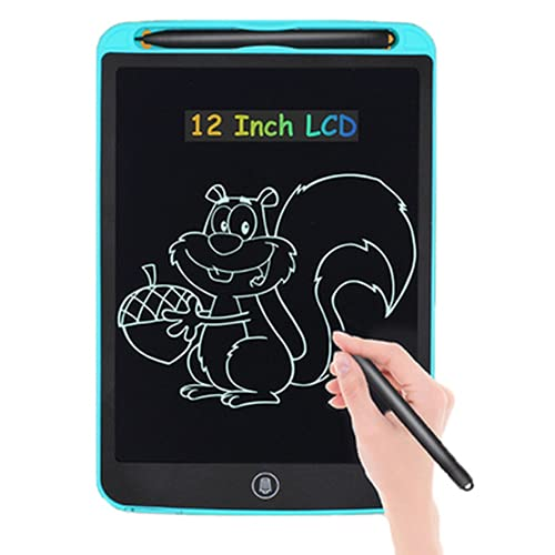 Tabla de dibujo electrónico de 12 pulgadas con pantalla LCD digital, tableta gráfica, escritura, pizarra electrónica con pantalla LCD, regalo para niños, pizarra de escritura (azul)