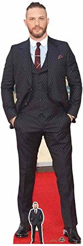 Star Cutouts Ltd Star Cutouts Tom Hardy Smart Anzug und Haarschnitt mit gratis Mini-Pappausschnitt, Pappe, Mehrfarbig, 175 cm 6ft Tall